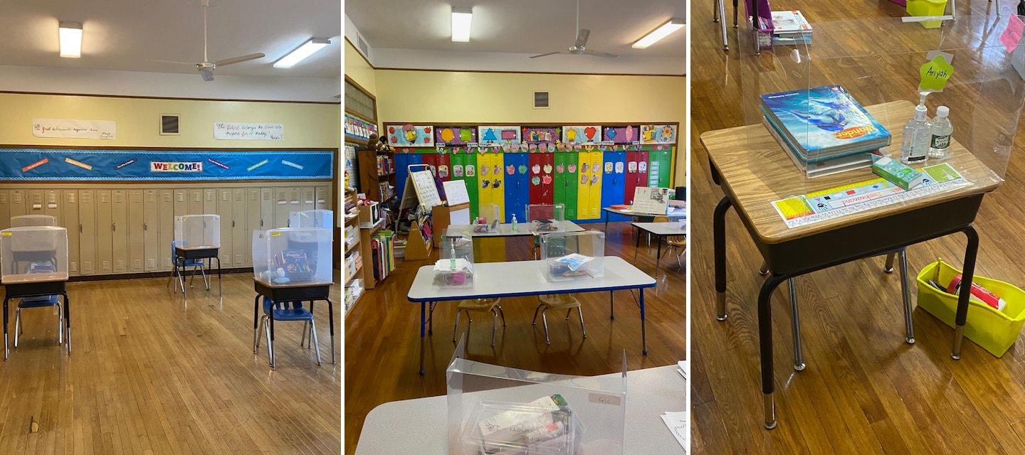 classrooms prepared for social distancing