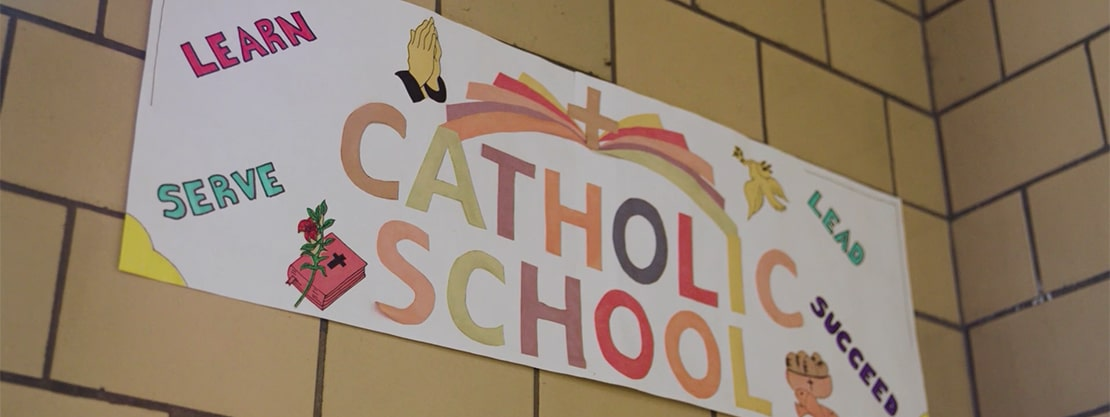 Catholic Schools sign